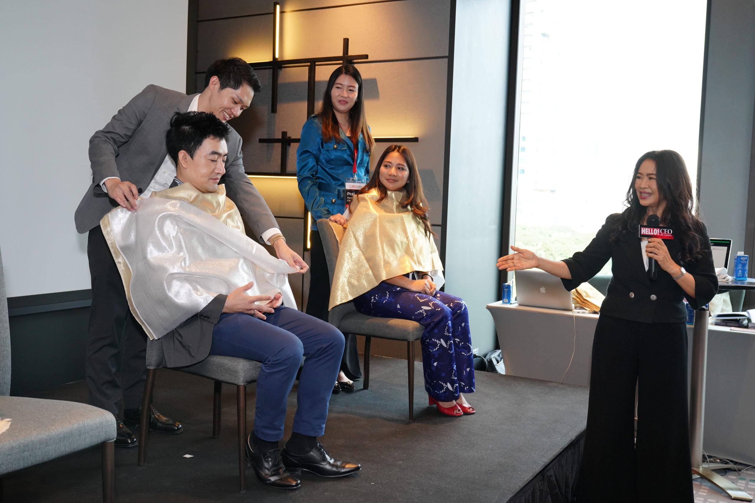 สมาชิก HELLO! CEO Branding ทดสอบสีผิว กับสีของเสื้อผ้า เพื่อการแต่งตัวให้เหมาะสม