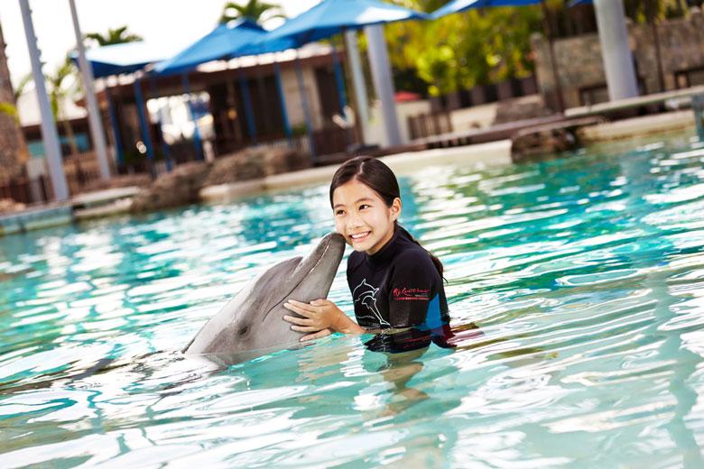 สนุกกับประสบการณ์ใหม่กับโลมาปากขวดจากท้องทะเลอินโดแปซิฟิกได้ที่ Dolphin Island