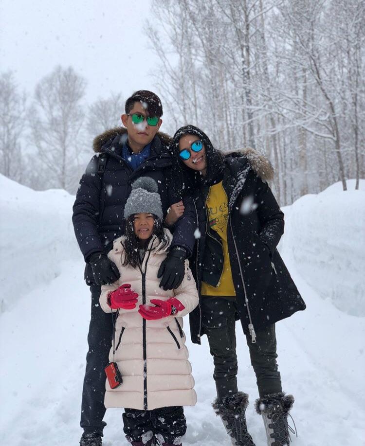 ครอบครัว , สกี , หิมะ , ญี่ปุ่น , นิเซโกะ , เซเลบริตี้