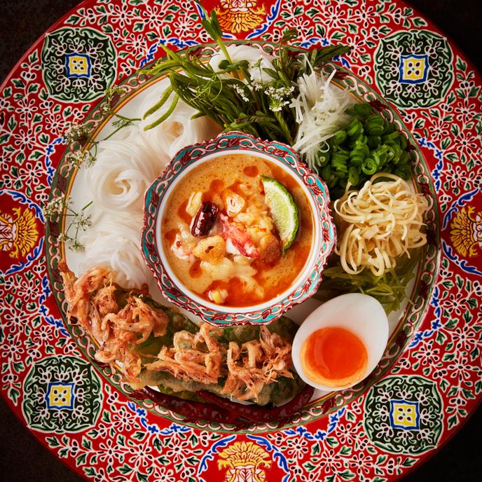 RHAAN, RHAANsummerMenu, เมนูอาหารไทย, ร้านอาหาร, อาหารชาววังฤดูร้อนสุดสัปดาห์, Royal Summer: Weekend Exclusive, ต๊อด-ปิติ ภิรมย์ภักดี, มิชลินสตาร์ 1 ดาว, เชฟชุมพล แจ้งไพร, แตงโมปลาแห้งสิงห์บุรี, ไส้กรอกปลาแนม, ยำส้มโอ, หมี่กรอบชาววัง, ข้าวแช่ชาววัง, ขนมจีนน้ำพริก, ขนมจีนซาวน้
