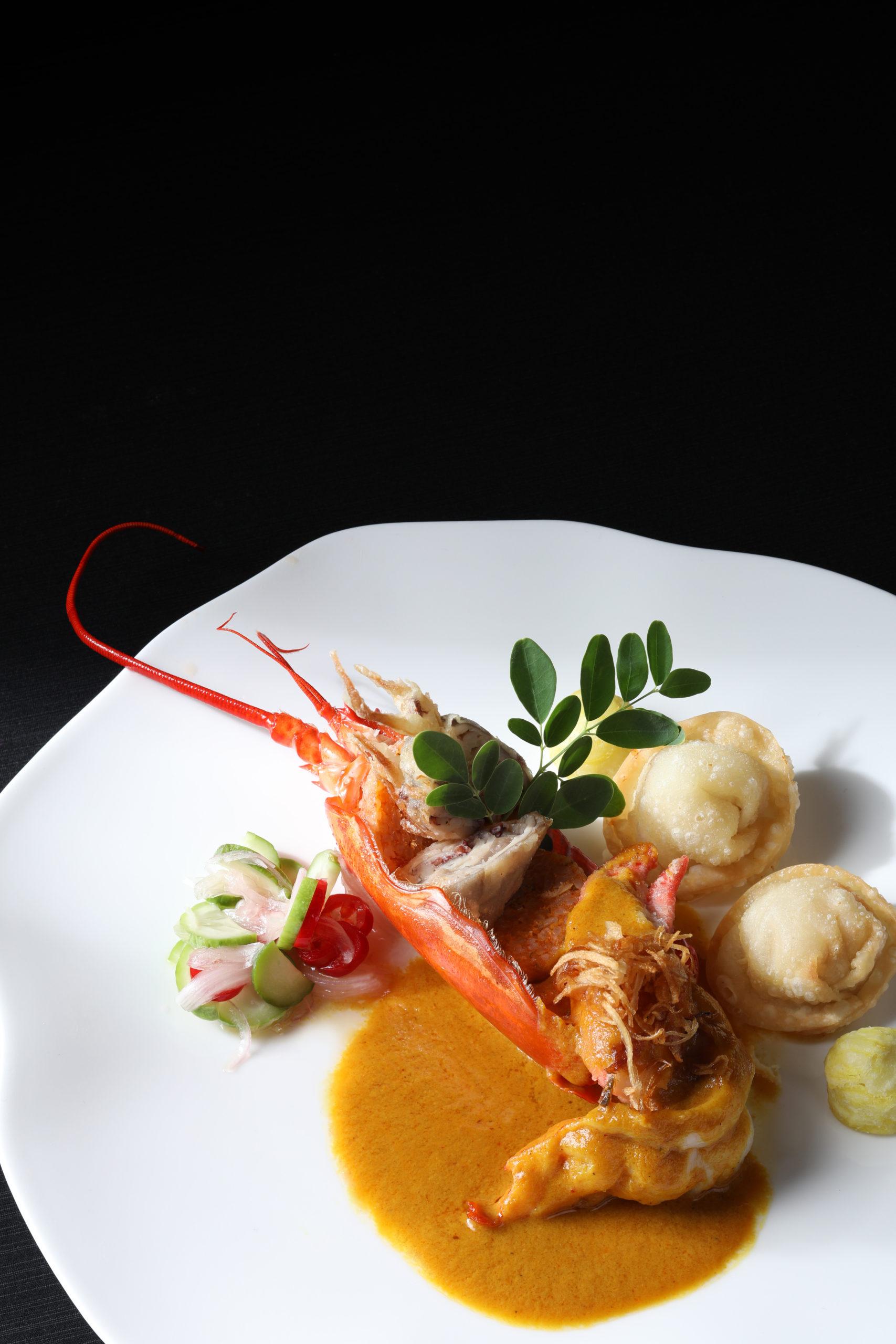 Royal Osha - แกงกระหรี่ Lobster ทอดกับข้าวทอดแหนมเห็ด
